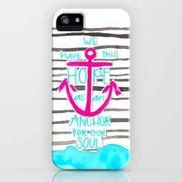 We Have This HOPE - Anchor (pink/blue) iPhone Case