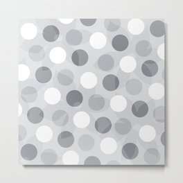 Dotted with gray Metal Print