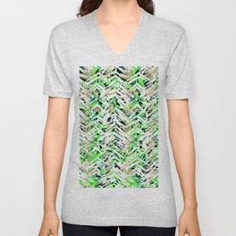 chalky skin light with green Unisex V-Neck
