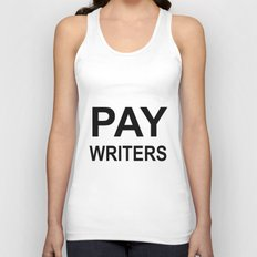 PAY WRITERS Unisex Tank Top