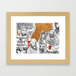 Major Tom's Social  Framed Art Print