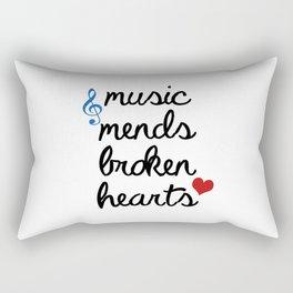 Music Mends Broken Hearts Rectangular Pillow