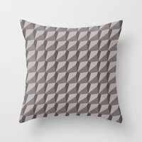 solid color Throw Pillows featuring Solid 9 Placid by KEITTIÖ