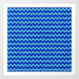 Chevron Glitter Pattern 06 Art Print