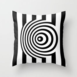 Black And White Op Art Graphic Throw Pillow