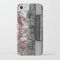 cherry blossom iPhone & iPod Cases featuring Cherry Blossom by Claire Doherty