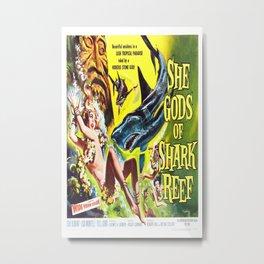 Vintage poster - She Gods of Shark Reef Metal Print