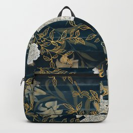 Indigo Stripes with Flowers Backpack