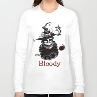 oz Long Sleeve T-shirts featuring Oz -Red by artlandofme
