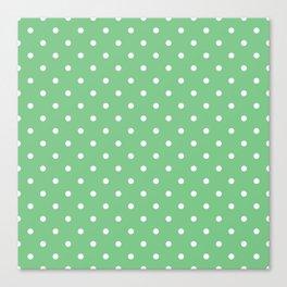 Sage Polka Dots Canvas Print