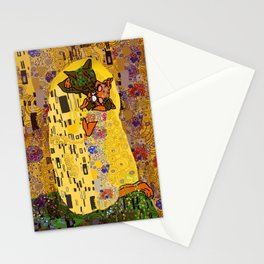 Kiss Klimt Cats Stationery Cards