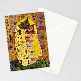 Kiss Klimt Cats Stationery Cards