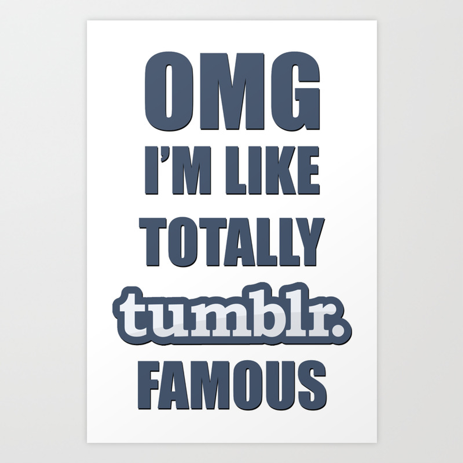 Tumblr famous art print by anwar society6