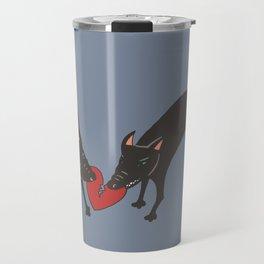 Black Dog Heartbreak Travel Mug