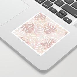 Pastel pink monstera deliciosa Sticker
