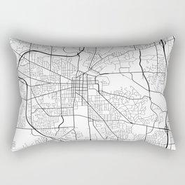 Ann Arbor Map, USA - Black and White Rectangular Pillow