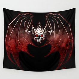 Thee Vampire Guild Bat Icon Wall Tapestry
