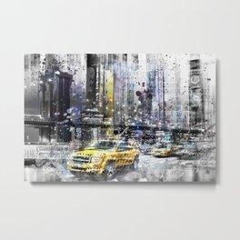 Modern Art NEW YORK Collage Metal Print