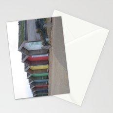Beach Shacks, Yorkshire, United Kingdom Stationery Cards