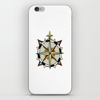 compass iPhone & iPod Skins featuring Compass by Indigo22