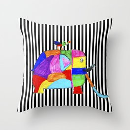 Rainbow Elephant by Elisavet   #society6 Throw Pillow