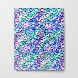 Melting Pastel Mermaid Scales Metal Print