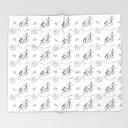 Slytherin Toile Throw Blanket