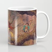 smaug Mugs featuring Dragons Lair by Angela Rizza