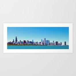City of Chicago, Illinois Skyline Panorama Art Print