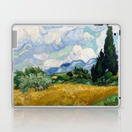 Wheat Field with Cypresses - Vincent van Gogh Laptop & iPad Skin