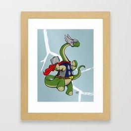 """Bronto""""THOR""""us - God of Thunder Lizards Framed Art Print"""