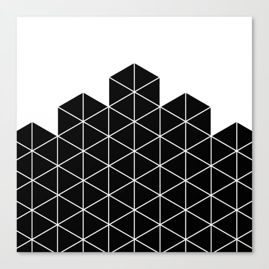Black And White Stack Canvas Print