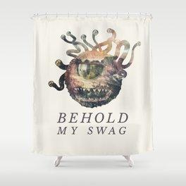 Beholder (Typography) Shower Curtain