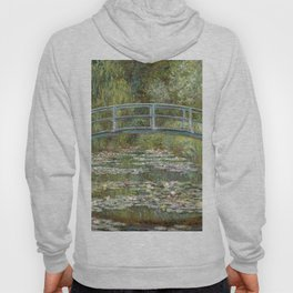Bridge over a Pond of Water Lilies by Claude Monet Hoody