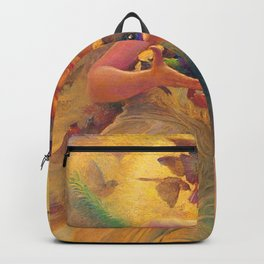 'The Angel of the Songbirds' still life painting by František Dvořák Backpack
