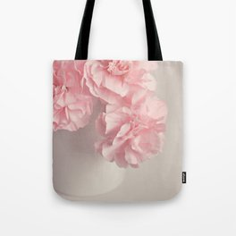 Frilly pink Carnations flowers. Tote Bag