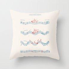 Nautical Notation Throw Pillow
