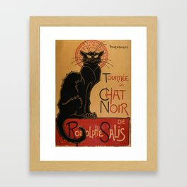 Le Chat Noir - Théophile Steinlen Framed Art Print