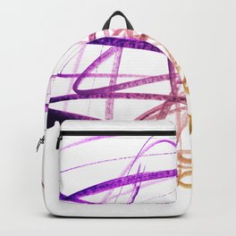 Violet Mulberry Goldenrod Tangled Abstract Backpack