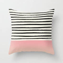 Blush x Stripes Throw Pillow
