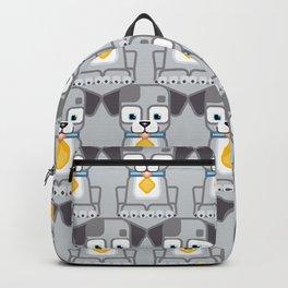 Super cute animals - Cute Grey Silver Puppy Dog Backpack