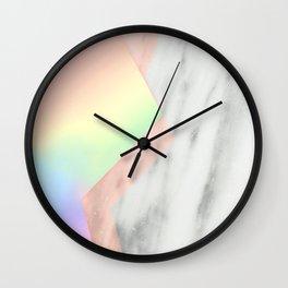 Unicorn Texture on Carrara Italian Marble Wall Clock