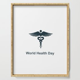 World Health Day Serving Tray