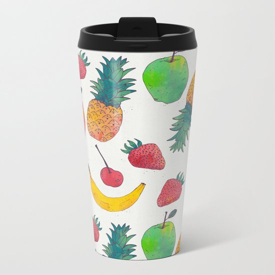 Fruity Metal Travel Mug