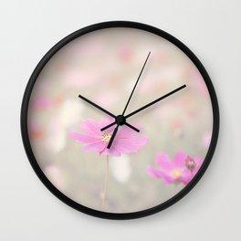 romantic flowers in soft pastel tones Wall Clock