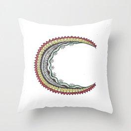 Rastafari Mandala Moon Throw Pillow