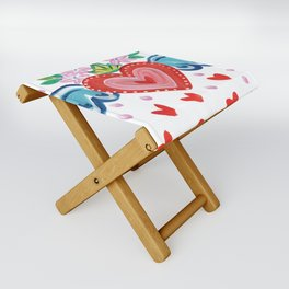 Valentine Heart with Wings Folding Stool