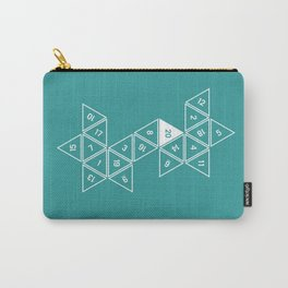 Teal Unrolled D20 Carry-All Pouch