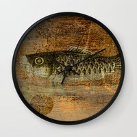 spawn Wall Clocks featuring 鯉 幟 (The Koinobori) by Fernando Vieira