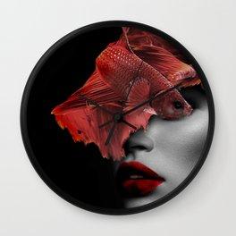 Fishing VIII. Digital collage Wall Clock